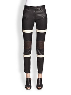3.1 Phillip Lim - Striped Kickback Leather Pants