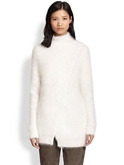 3.1 Phillip Lim - Ribbed Wool & Angora Wrap-Effect Sweater