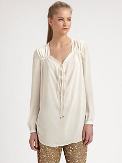 Haute Hippie - Silk Bohemian Blouse