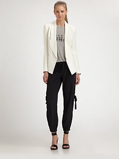 Haute Hippie - Single-Breasted Silk Blazer