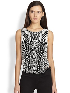 Haute Hippie - Beaded Silk Top