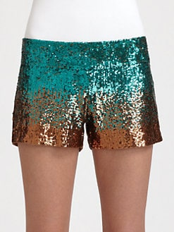 Haute Hippie - Ombre Sequin Shorts