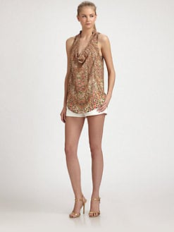 Haute Hippie - Sleeveless Printed Silk Blouse
