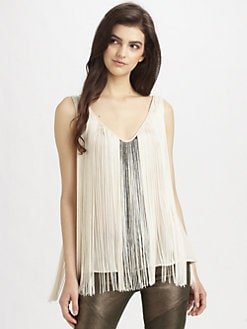 Haute Hippie - Beaded Fringe Tank Top