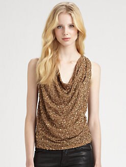 Haute Hippie - Sequined Silk Top