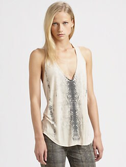 Haute Hippie - Snake-Print Tank