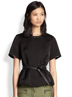 3.1 Phillip Lim - Belted Peplum Combo Top