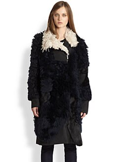 3.1 Phillip Lim - Patchwork Shearling Coat