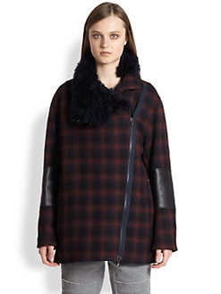 3.1 Phillip Lim - Plaid Asymmetric Jacket