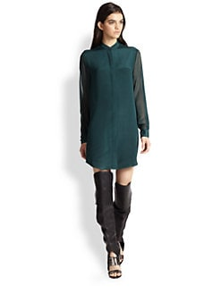 3.1 Phillip Lim - Semi-Sheer Silk Shirtdress