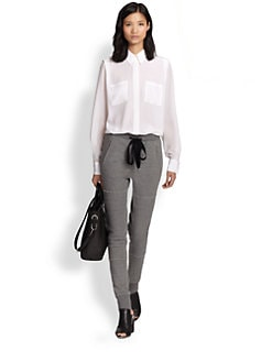 3.1 Phillip Lim - Semi-Sheer Silk Boyfriend Shirt