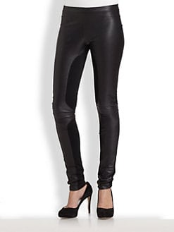 Elizabeth and James - Danika Leather-Rich Leggings