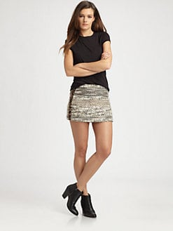 Gryphon - Elle Embellished Tweed Mini Skirt
