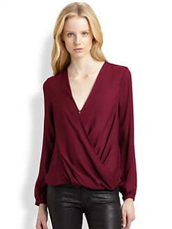 Haute Hippie - Draped Silk Top