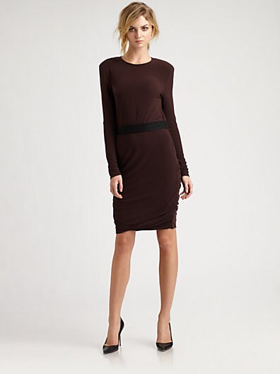 Ruched Jersey Sweaterdress