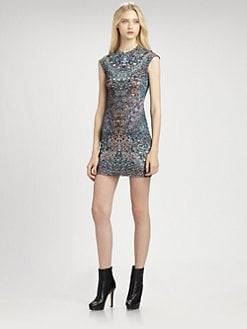McQ Alexander McQueen - Cap-Sleeve Dress