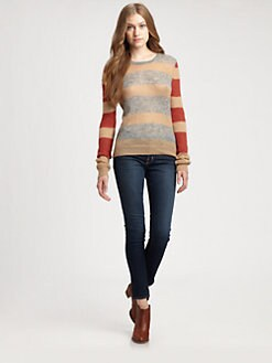 Thakoon Addition - Striped Crewneck Sweater