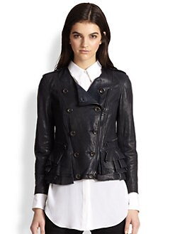 3.1 Phillip Lim - Leather Ruffle Jacket