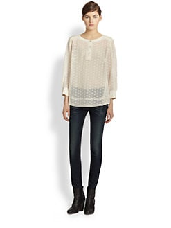 Rag & Bone - Tess Semi-Sheer Blouse