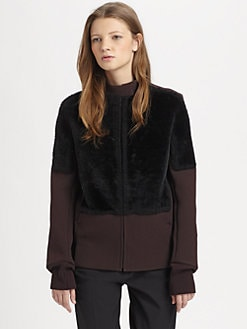 3.1 Phillip Lim - Shearling-Trimmed Jacket