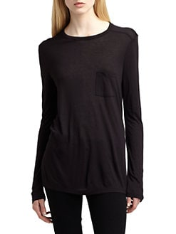 T by Alexander Wang - Classic Long-Sleeve Pocket Tee