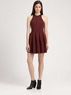 T by Alexander Wang - Neoprene Pleated Dress