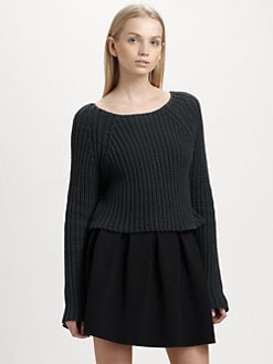 T by Alexander Wang - Cropped Chunky Sweater