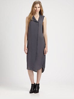T by Alexander Wang - Silk Shirtdress
