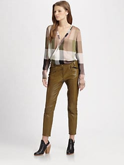 10 Crosby Derek Lam - Silk Wrap Blouse