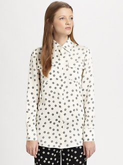 10 Crosby Derek Lam - Yarn Polka-Dot Silk Shirt