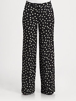 10 Crosby Derek Lam - Yarn Polka-Dot Silk Pants