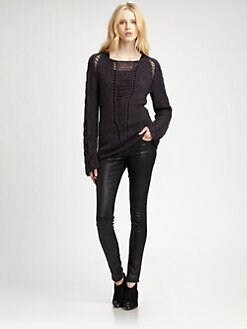 Cut 25 by Yigal Azrouel - Open-Knit Sweater