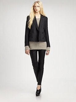 BLK DNM - Cropped Wool Blazer