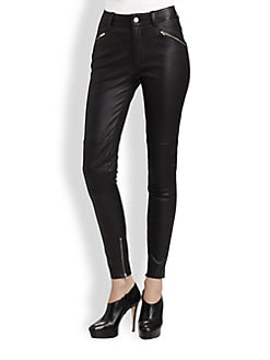 BLK DNM - High-Rise Leather Skinny Pants