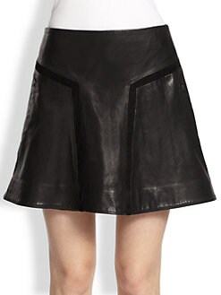 Rag & Bone - Louise Leather Skirt