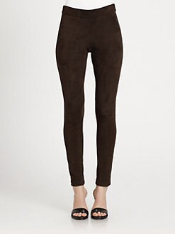 L'AGENCE - Stretch-Suede Leggings
