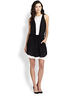 A.L.C. - Solange Silk Drop-Waist Dress