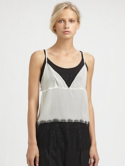 By Malene Birger - Lace-Trimmed Tank