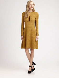 Carven - Lace Keyhole Dress