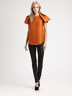 Carven - Winged Wool & Silk Top