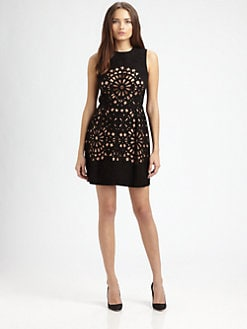 Carven - Suede Cutout Dress