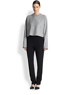T by Alexander Wang - Boxy-Fit Cropped Dolman-Sleeved Sweatshirt