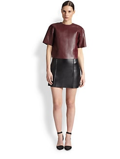 T by Alexander Wang - Paneled Leather Top