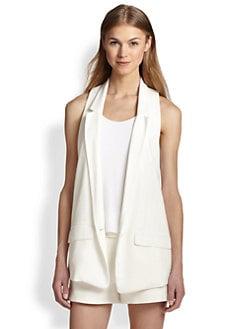 Rag & Bone - Ines Blazer-Style Racerback Vest