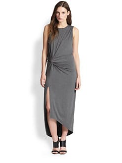Elizabeth and James - Marine Asymmetrical Knotted Stretch Jersey Dress