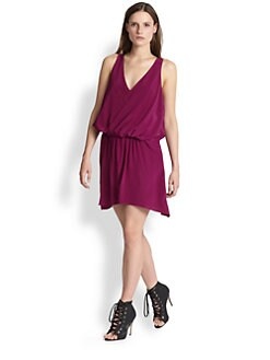 Elizabeth and James - Tiana Silk Draped Dress