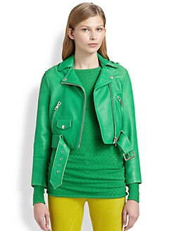 Acne - Mape Cropped Leather Jacket