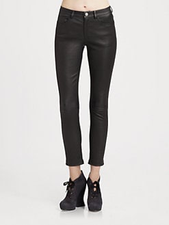 Acne - Leather Skinny Pants