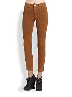 Acne - Suede Skinny Pants