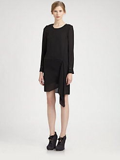 Acne - Cutout Cowlback Dress